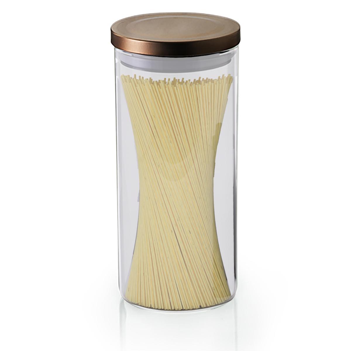 Pote hermético Borossilicato tampa bronze 1,3L Mimo Style