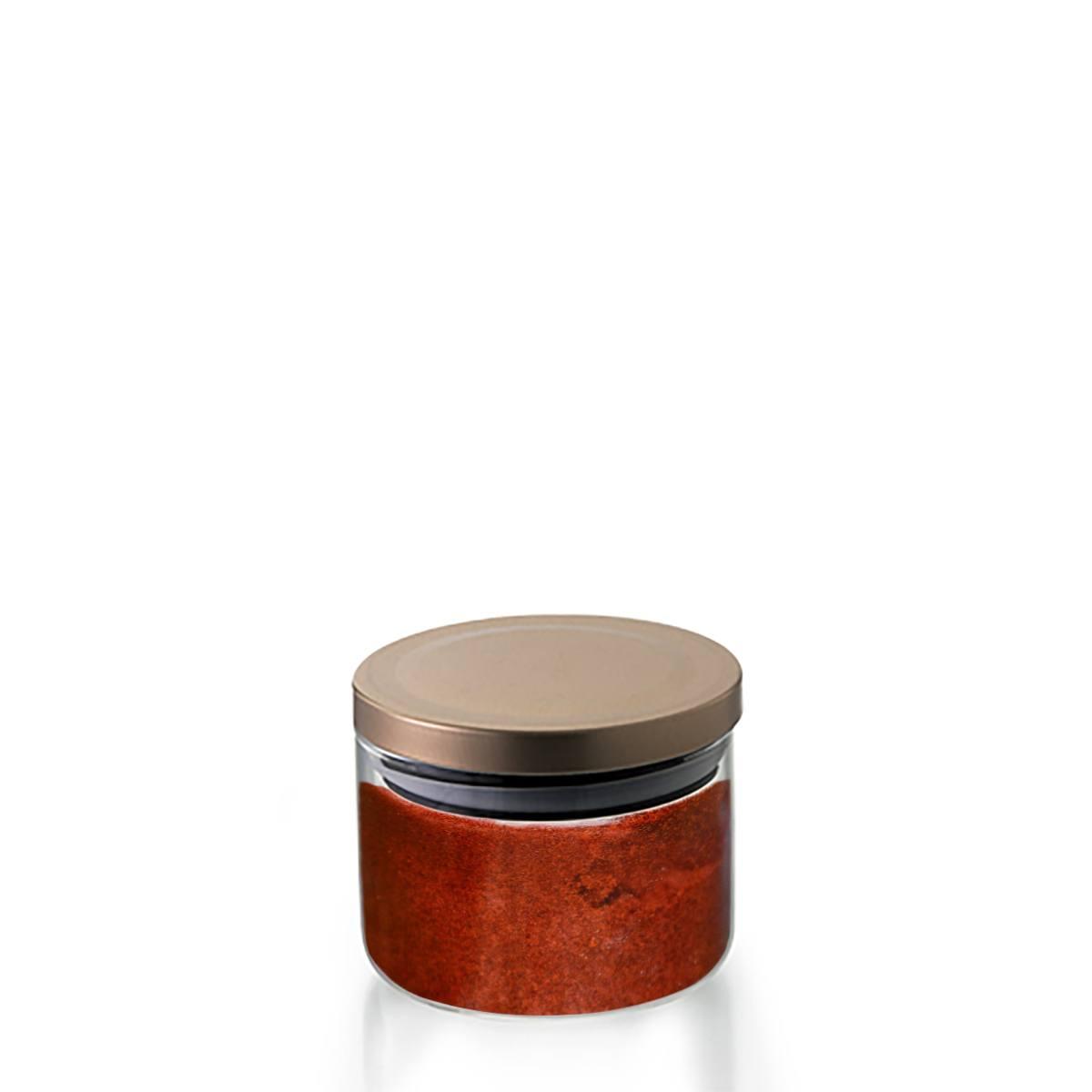 Pote hermético Borossilicato tampa bronze 370ml Mimo Style