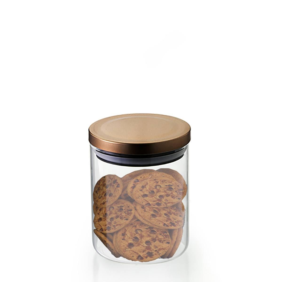 Pote hermético Borossilicato tampa bronze 750ml Mimo Style