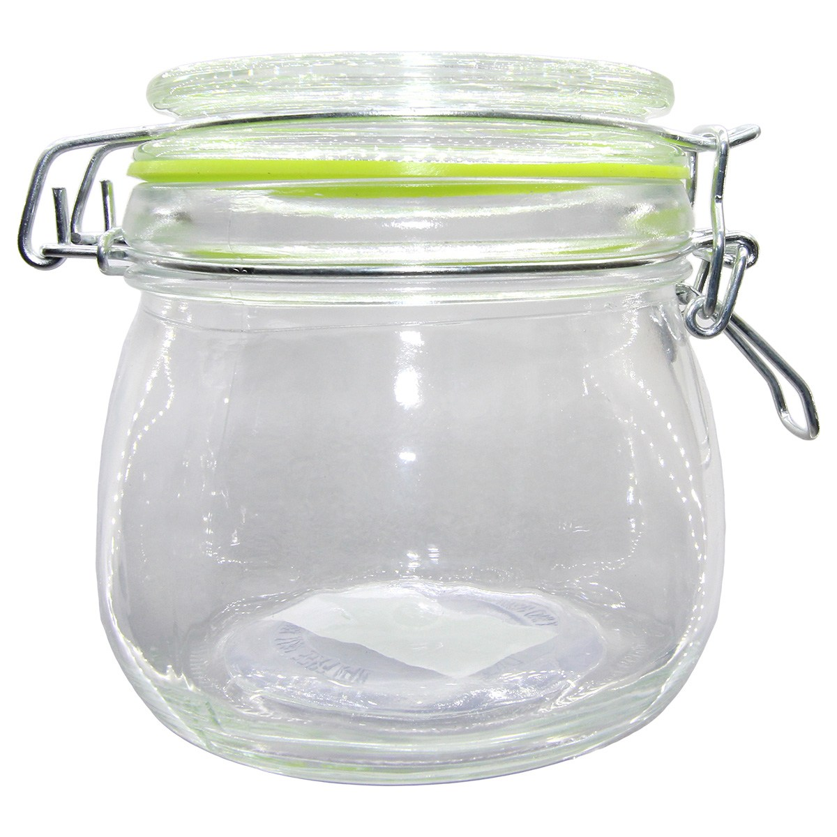Pote hermético vidro Cancun Color verde 520ml 11x10cm Lyor