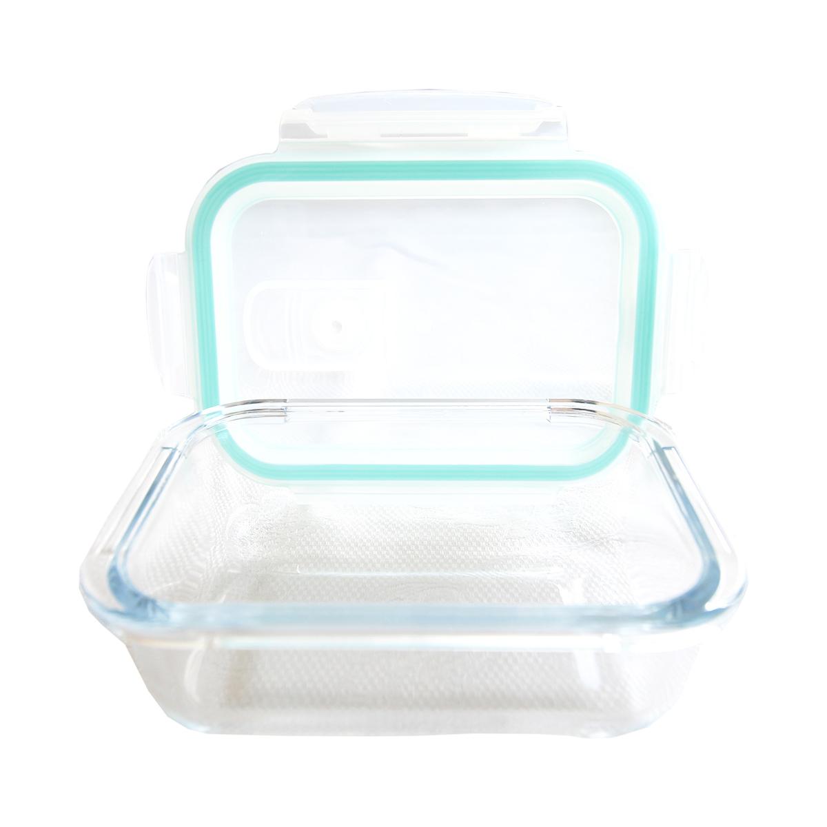 Pote hermético vidro transparente tampa plástica 1,5l Lyor