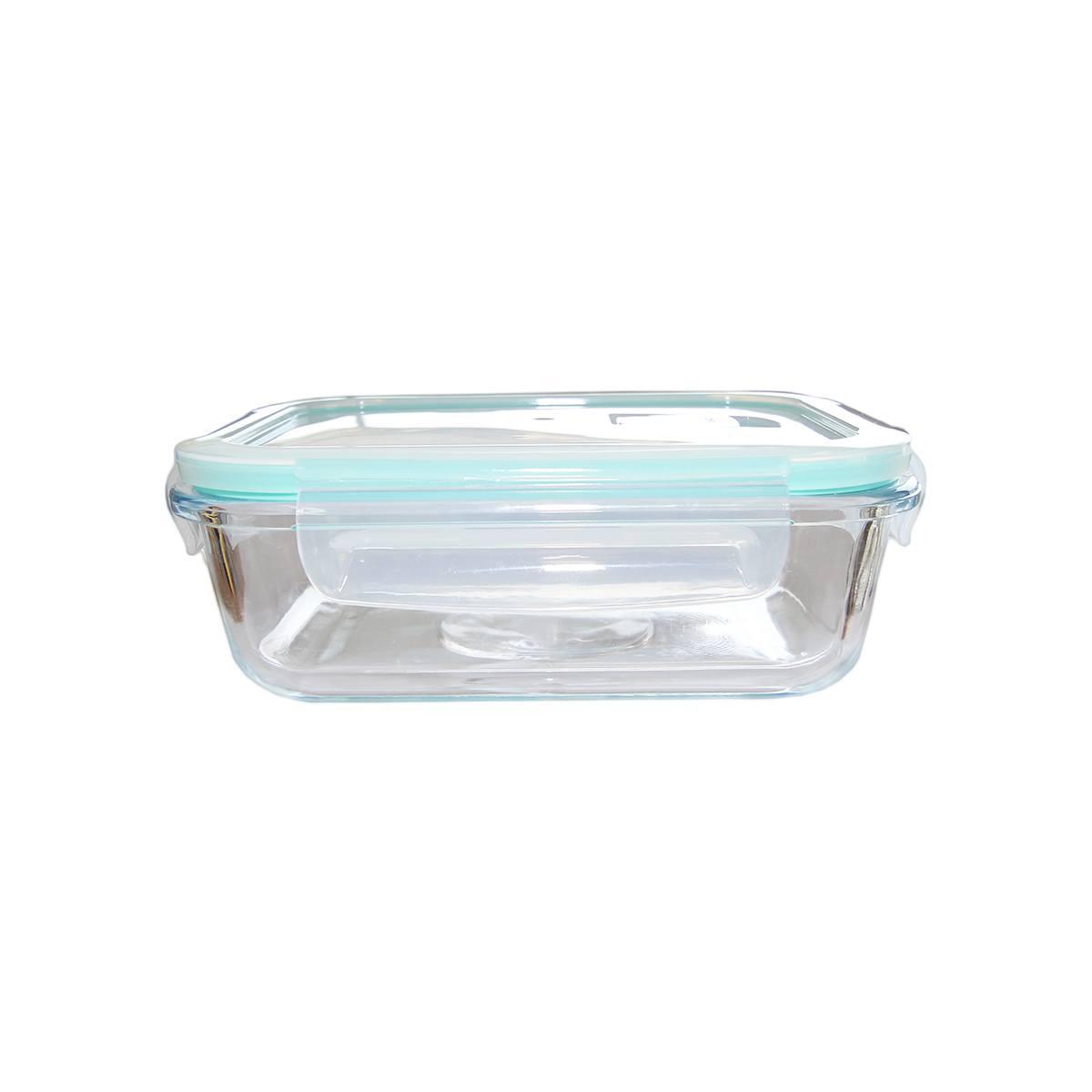 Pote hermético vidro transparente tampa plástica 640ml Lyor