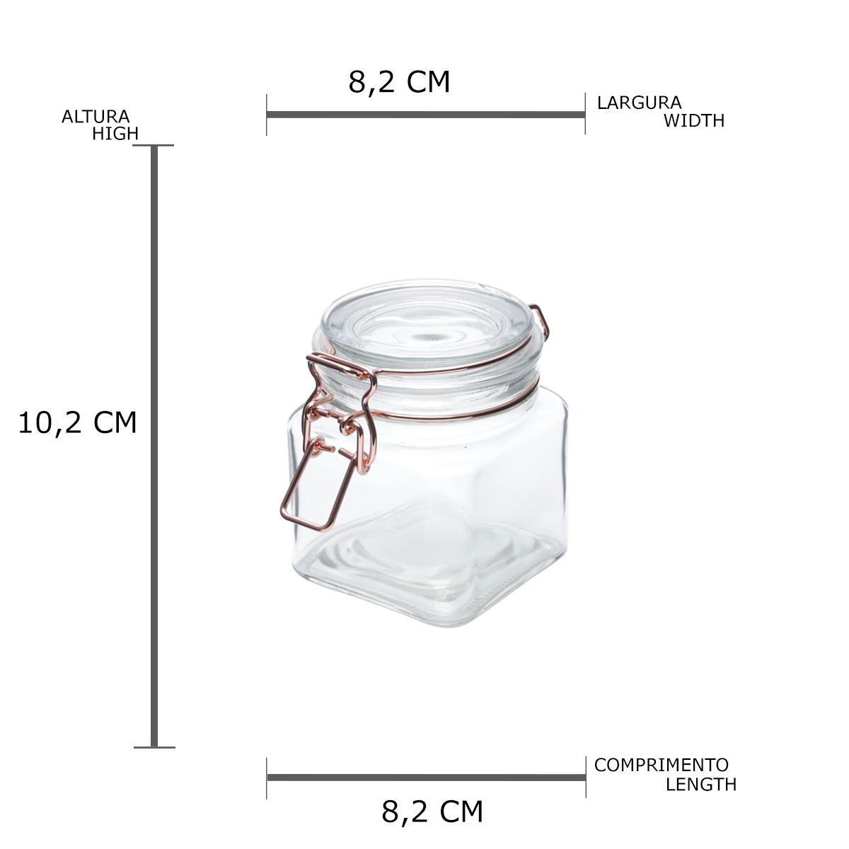 Pote vidro hermético Cooper Glass Flip 8,2x10cm 360ml Urban