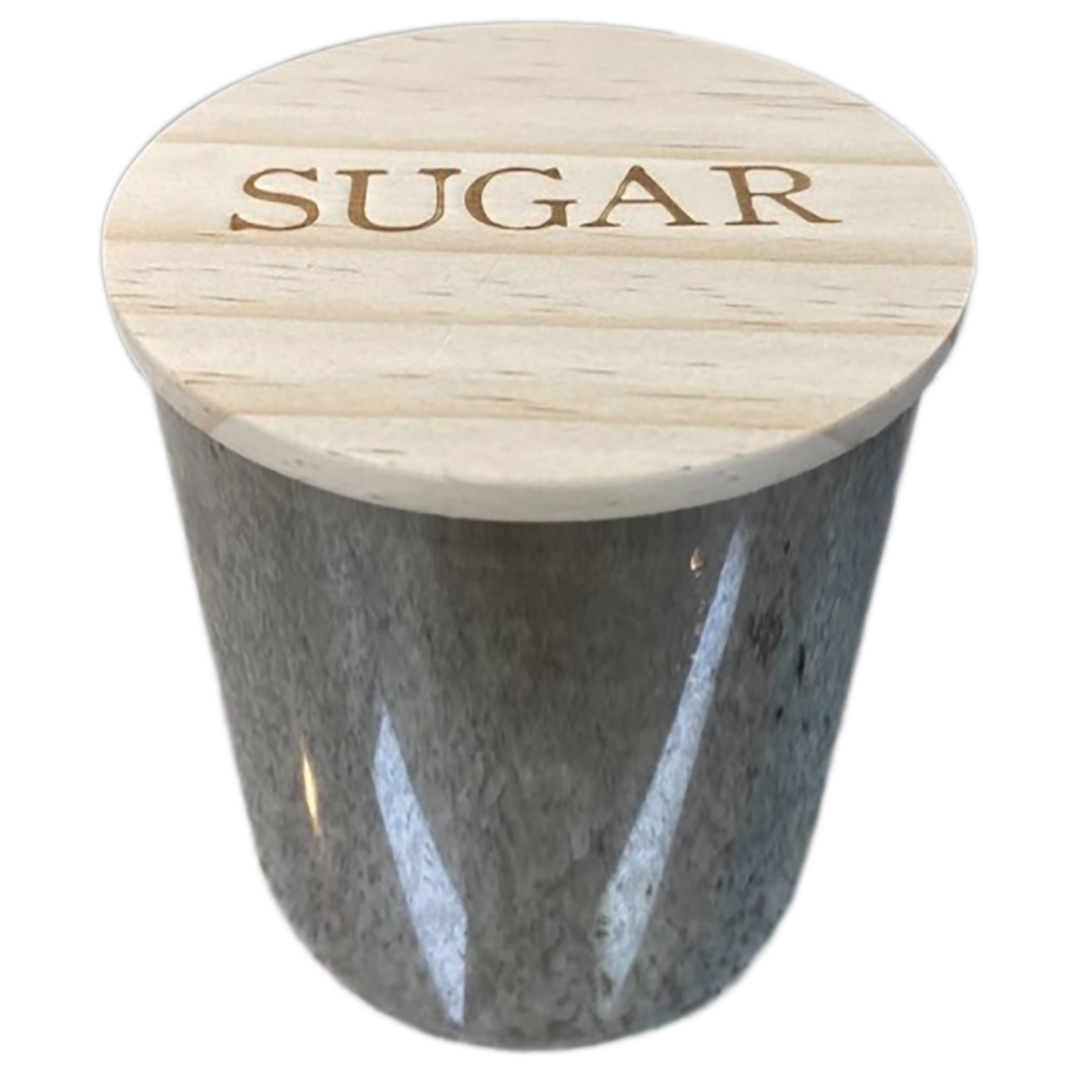 Potes Vidro Coffee Sugar Clear Cinza Tpa Madeira 10x18/10x12
