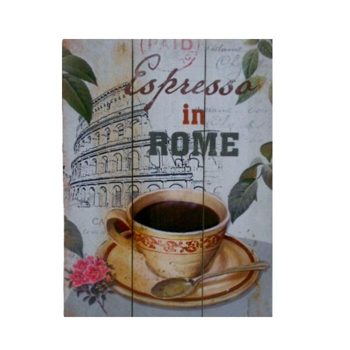 Quadro Espresso in Rome 40 x 30 cm