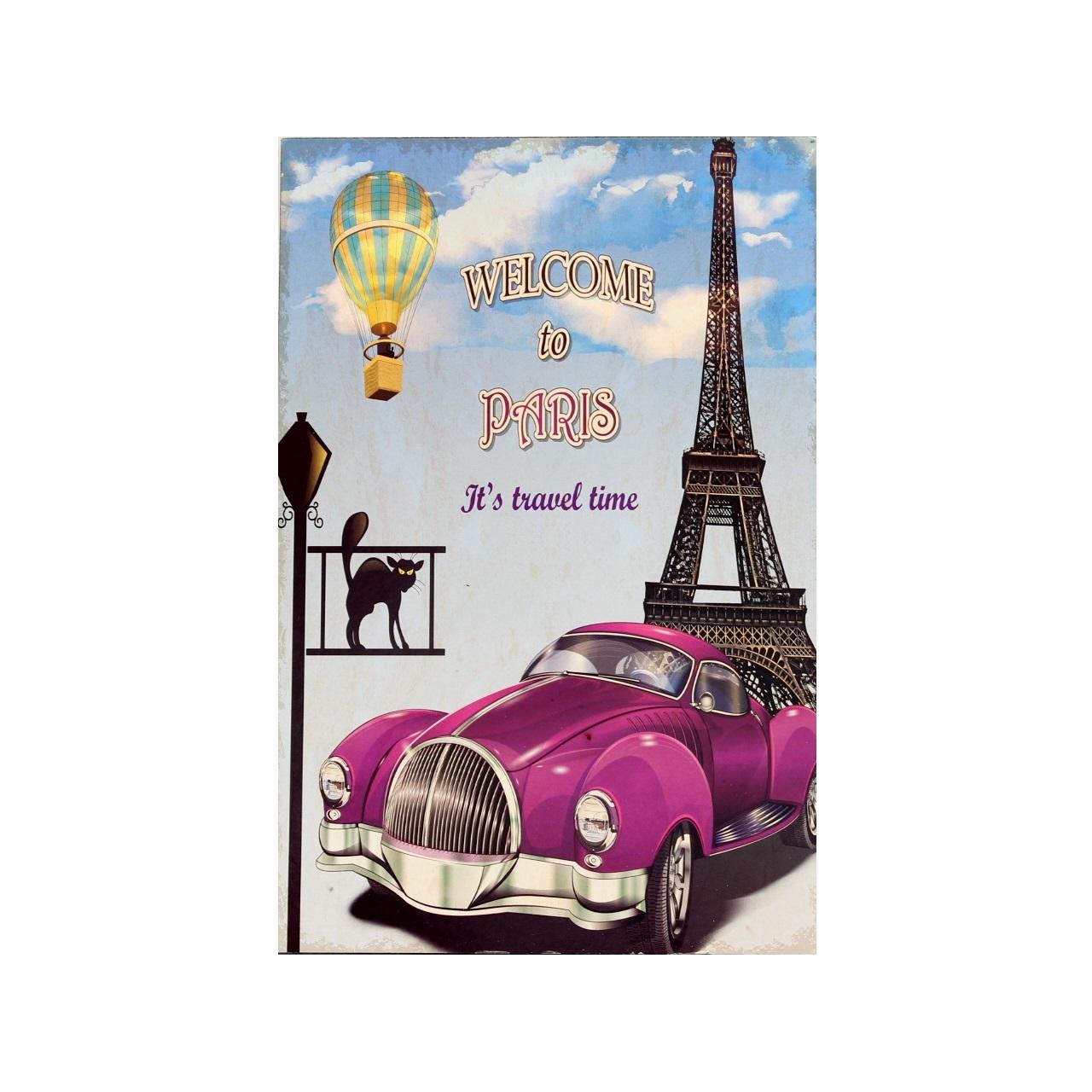 Quadro Welcome to Paris 20 x 30 cm
