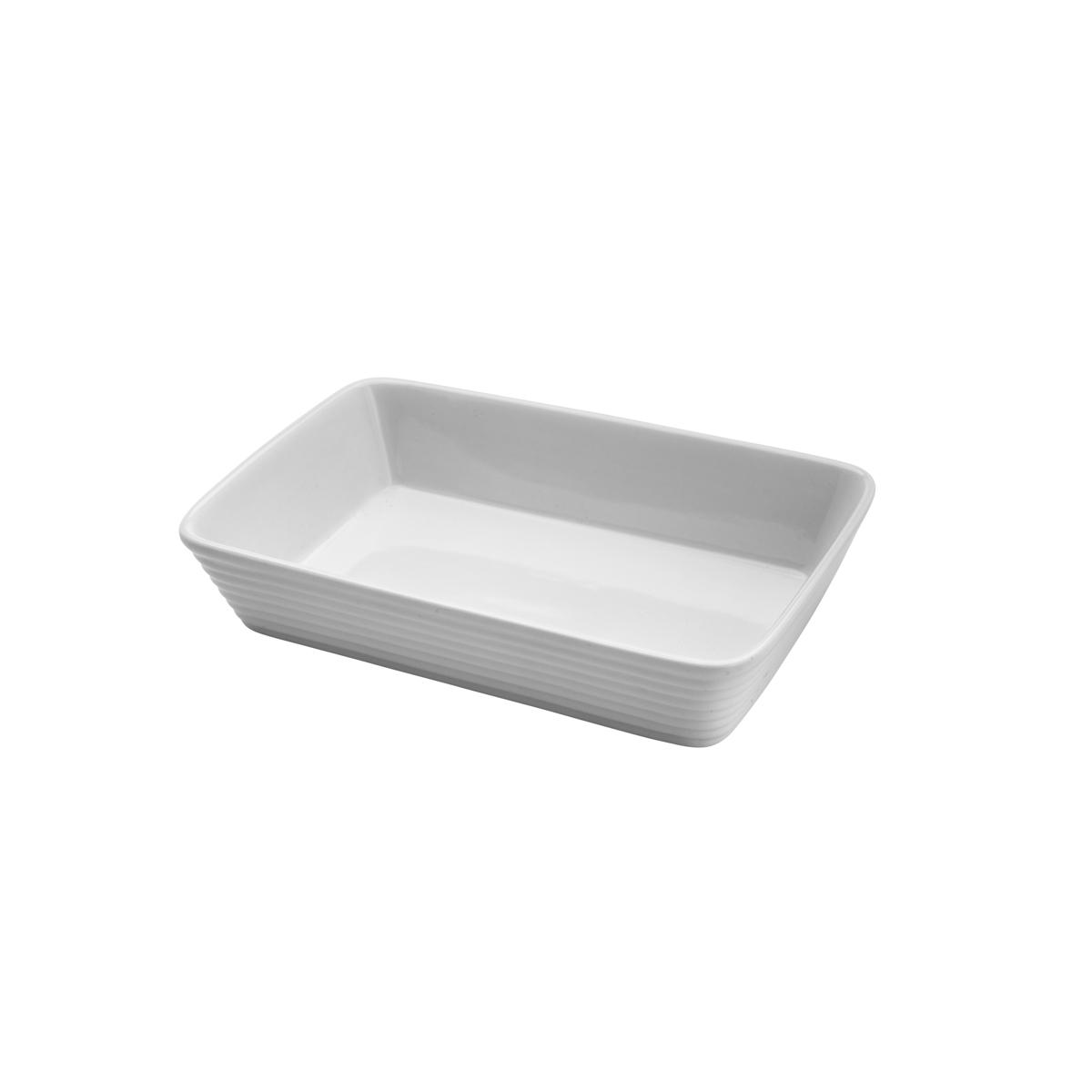 Refratário de porcelana Linea branco 26x16,5x5cm Lyor