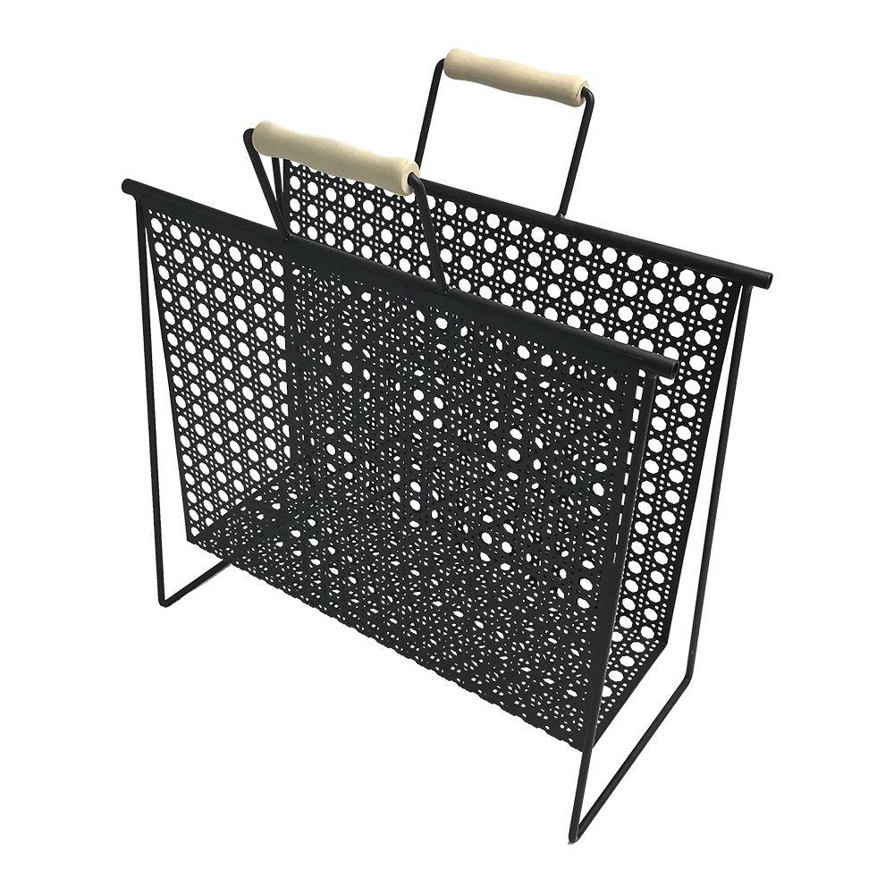Revisteiro Metal desenho Treliça 37,5x18,5x44,5cm BTC
