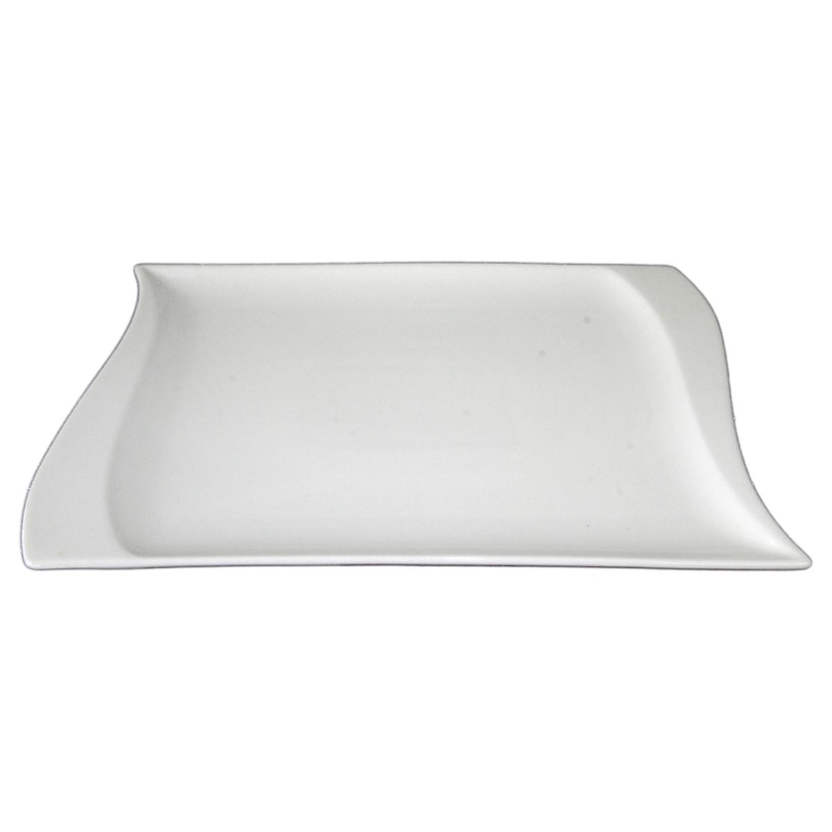 Travessa porcelana retangular branca 31x20cm Bon Gourmet