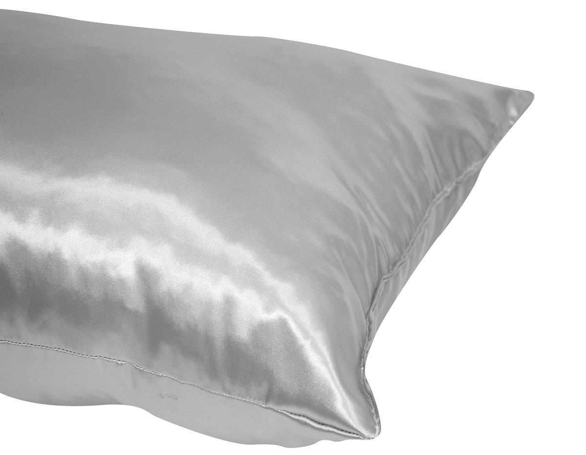Travesseiro prateado saúde e conforto 70x50x18cm Fibrasca