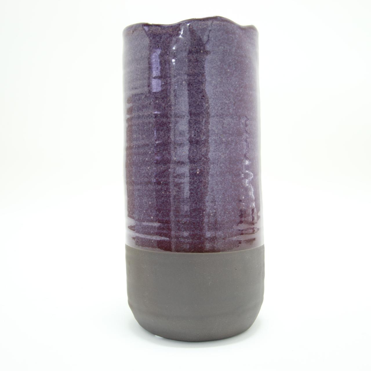 Vaso cerâmica cilindro grande 23x11cm Santa Cecília