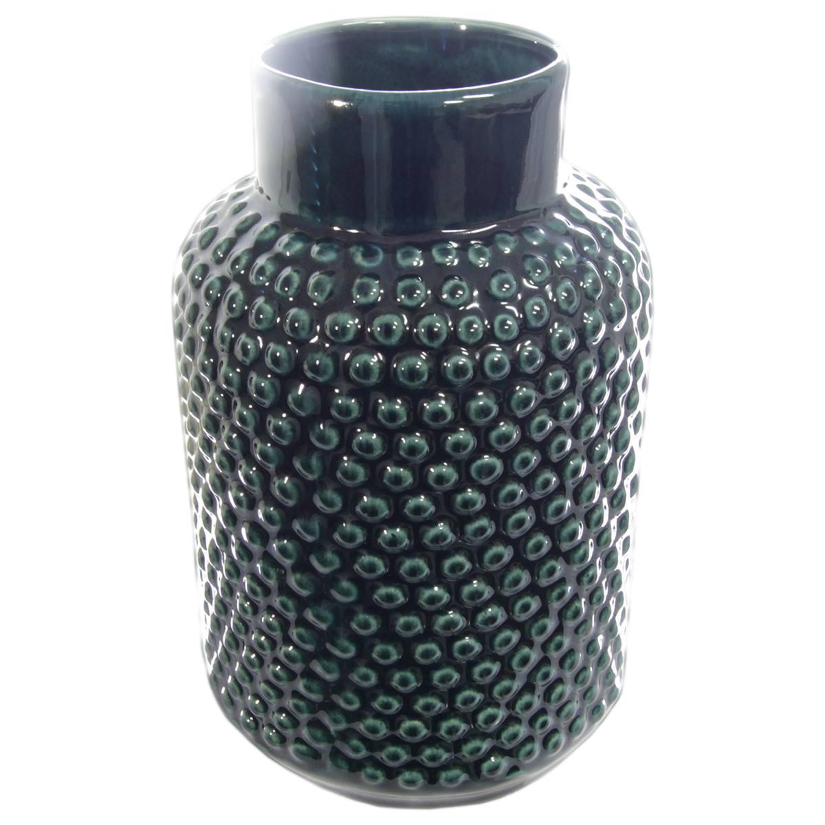 Vaso cerâmica verde esmaltado Bolha 14x23cm Monte Real