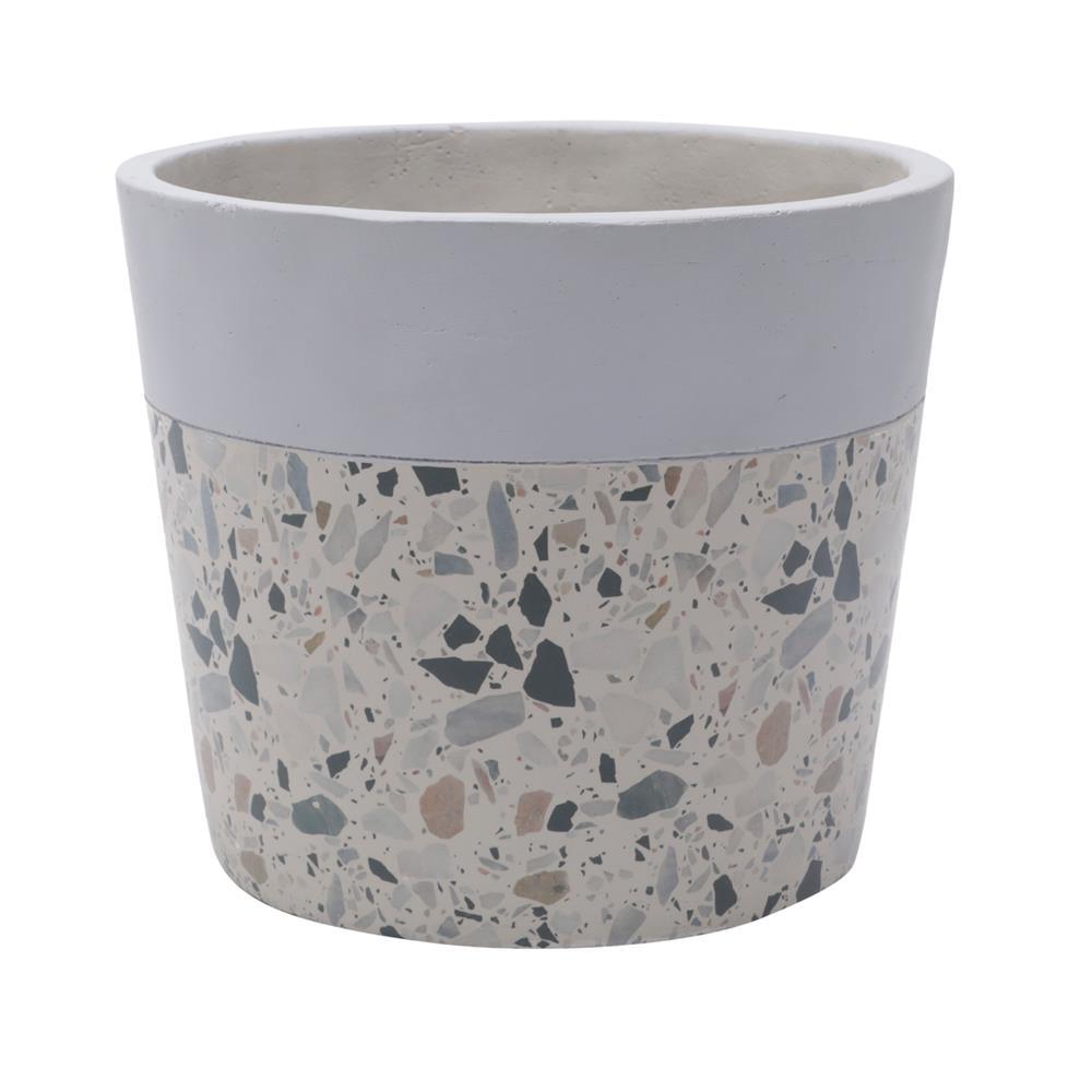 Vaso concreto Granilite Fossil Stardust cinza/bege 15x13cm Urban