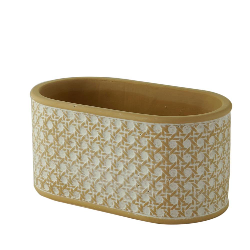 Vaso concreto String Knot branco bege 20,5x11,5x10cm Urban