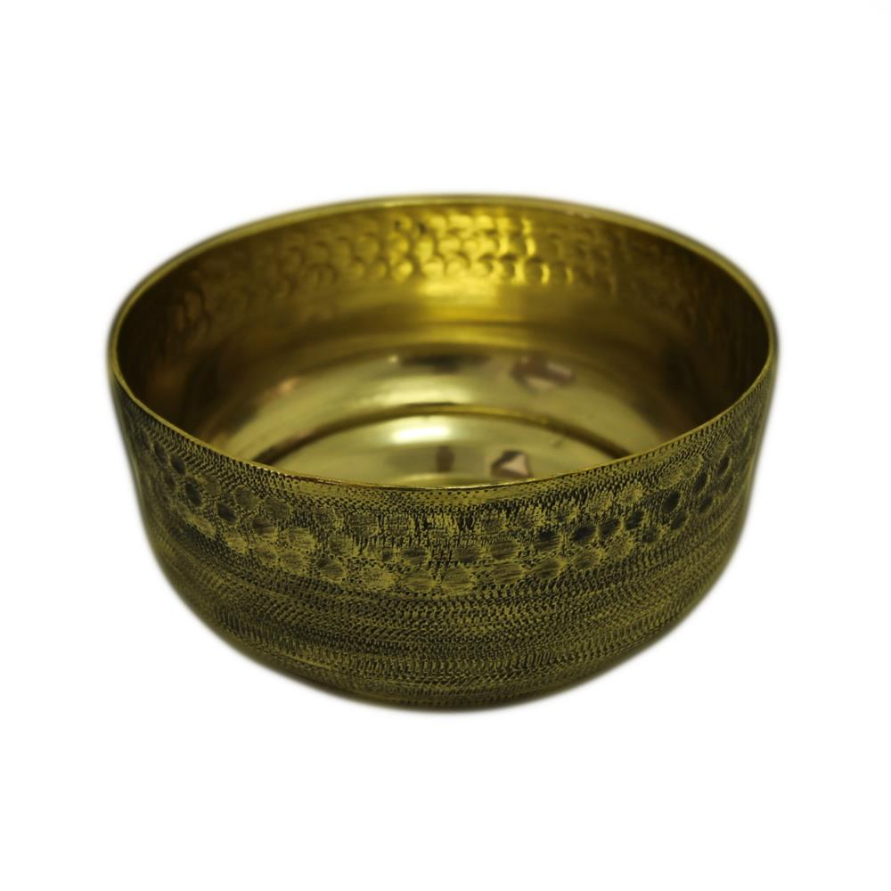 Vaso Decorativo Alumínio Dourado 9x16cm Santa Cecília