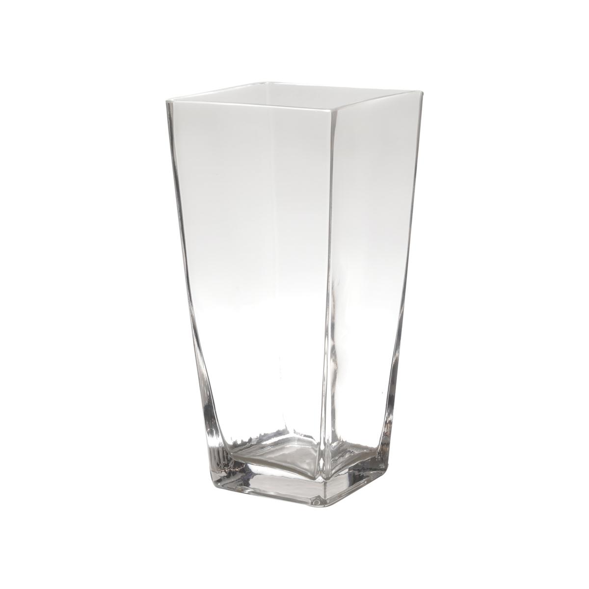 Vaso vidro Basic Clear Open Square 12x12x19 cm Urban