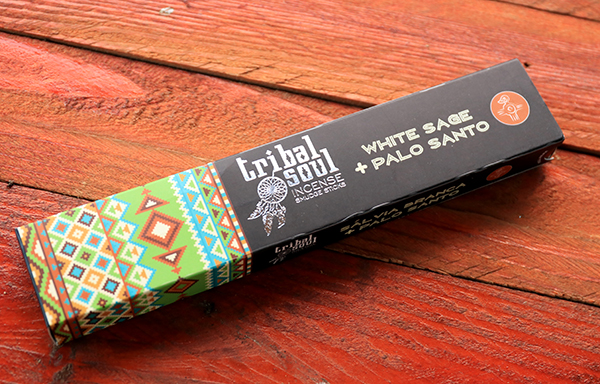 Incenso Indiano Tribal Soul Sálvia Branca + Palo Santo