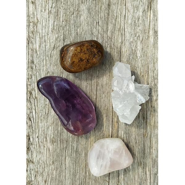 Kit de cristais para prosperidade no amor e relacionamentos