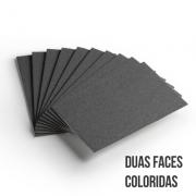 Cartão Color Face - Dupla Face- Preto - Pacote 10un