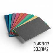 Cartão Color Face -  Dupla Face -Sortido - Pacote 10un