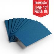 Leve 12 Pague 10 - Cartão Color Face Azul Royal- Pacote com 12un