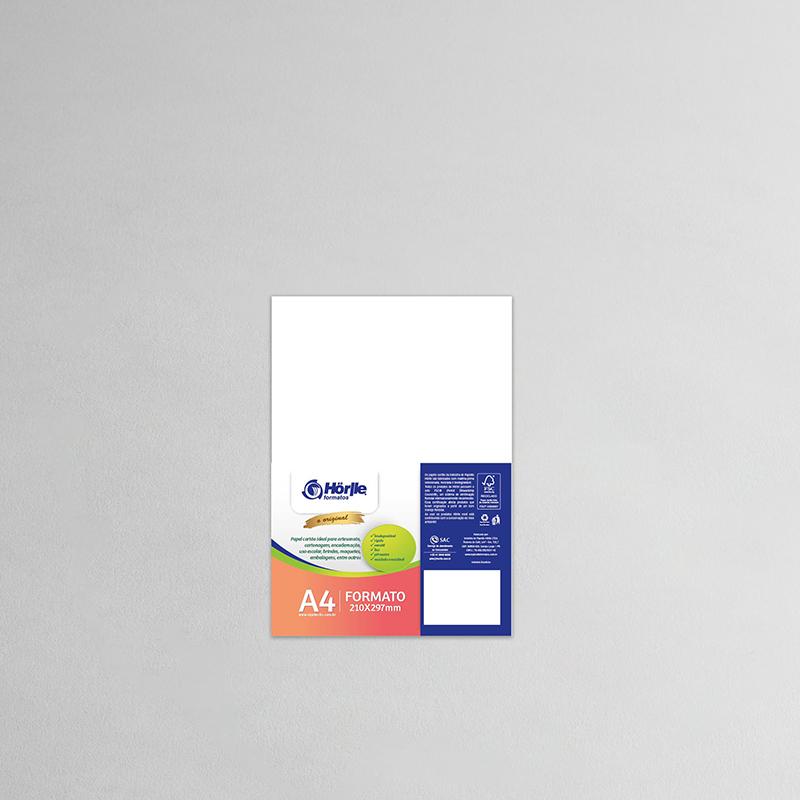 Cartão Capa Branca - Medida A4 -Pacote10un