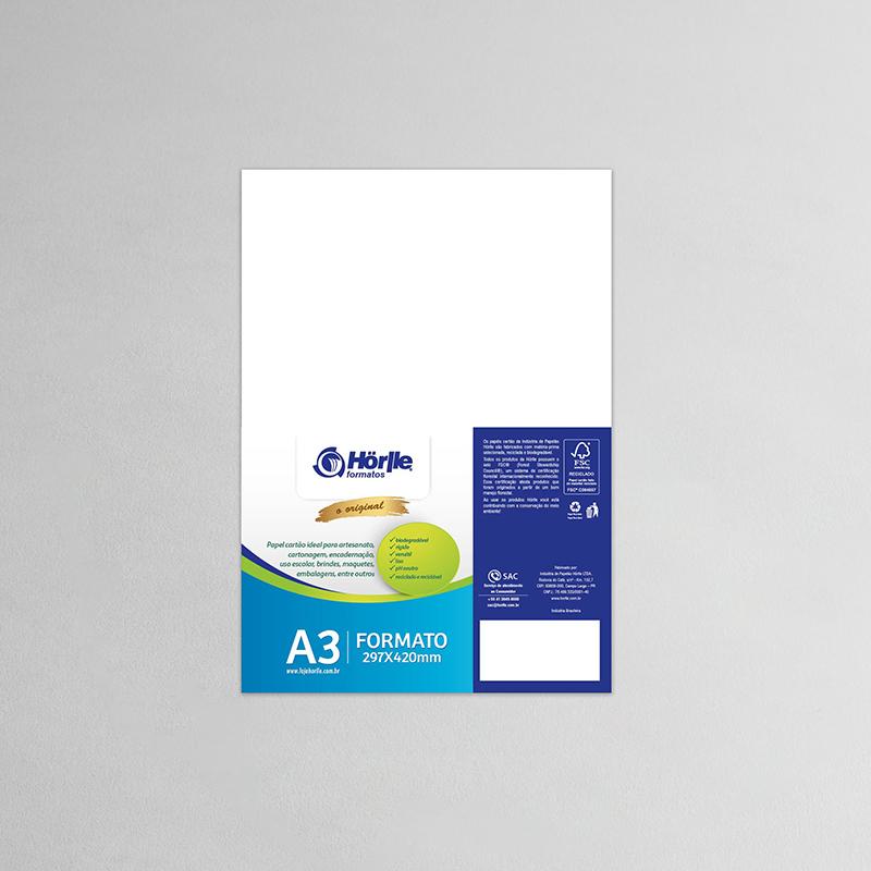 Cartão Capa Branca - Medida A3 -  Pacote10un
