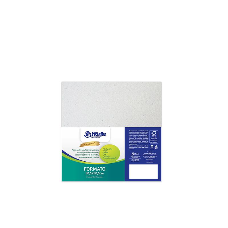 Cartão Cinza H - Medida 30,5x30,5cm - pacote 10un.