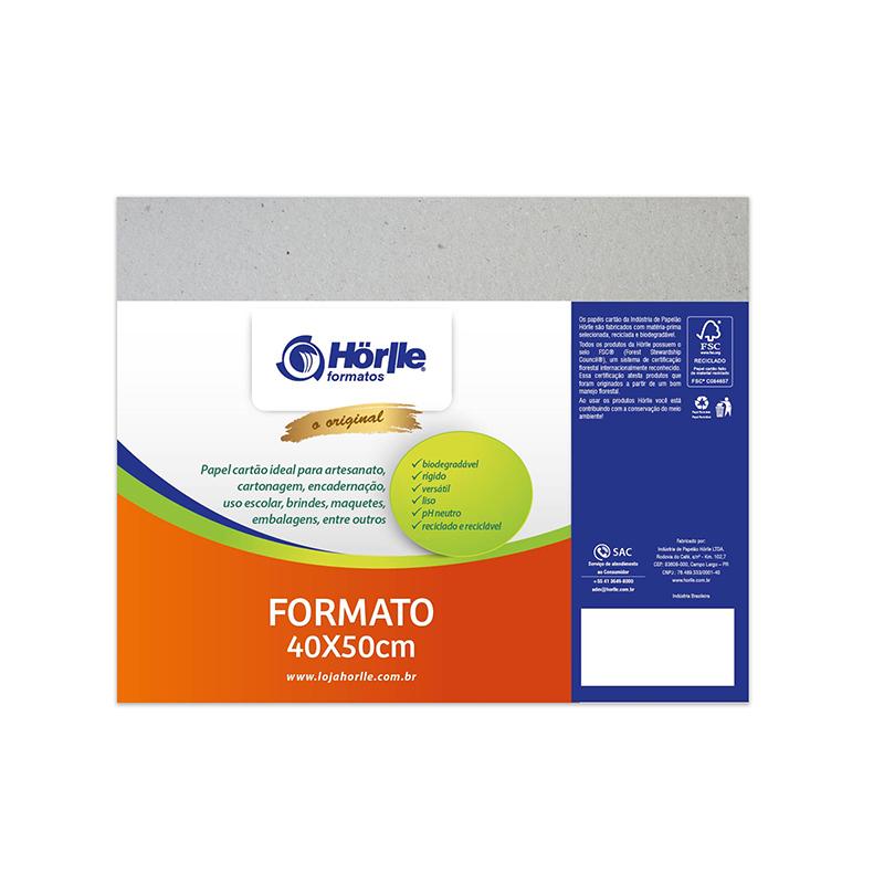 Cartão Cinza- Medida 40x50cm -Pacote 10un.