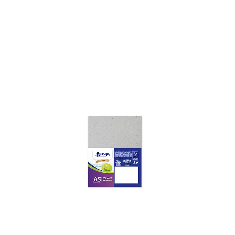Cartão Cinza- Medida A5 - Pacote 10un.