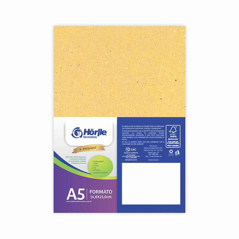 Cartão Color Face - Amarelo - Pacote 10un