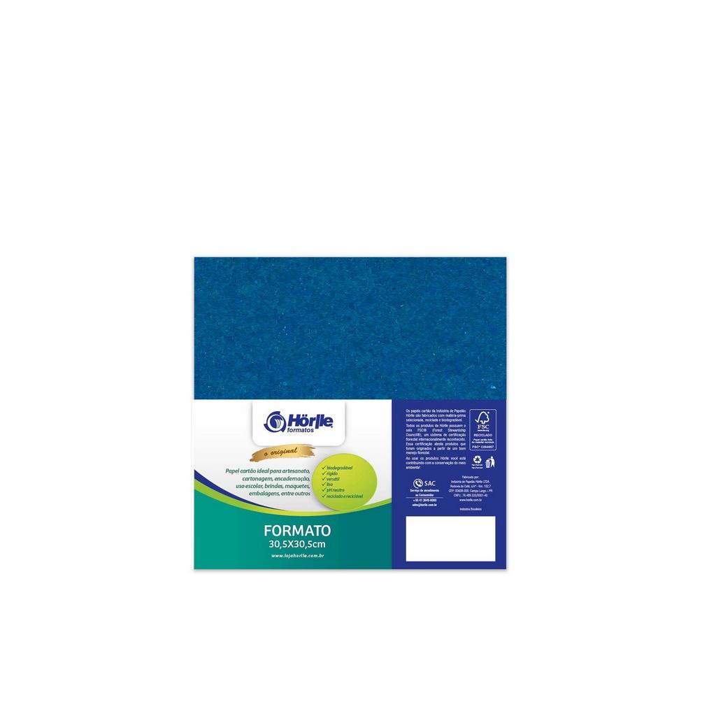 Cartão Color Face - Azul Royal - Pacote 10un