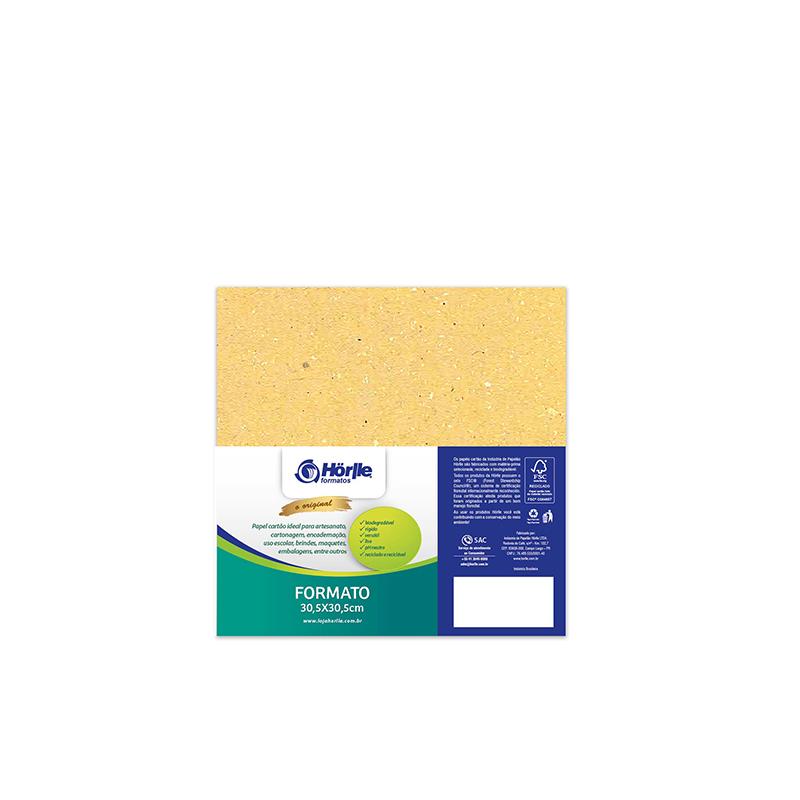 Cartão Color Face- Dupla Face - Amarelo - Pacote 10un