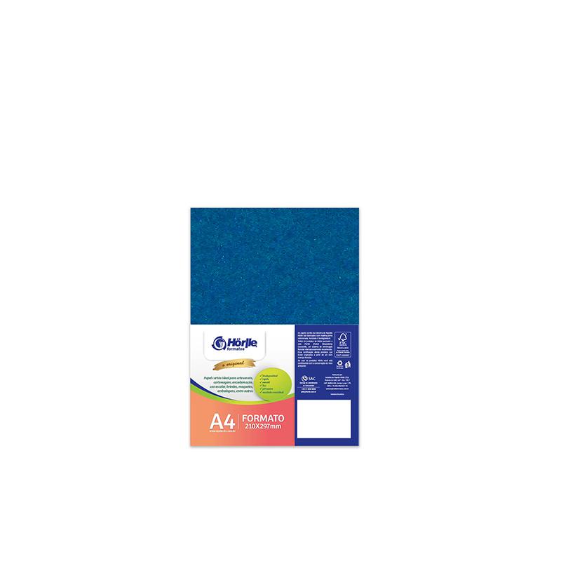 Cartão Color Face -  Dupla Face -Azul Royal - Pacote 10un