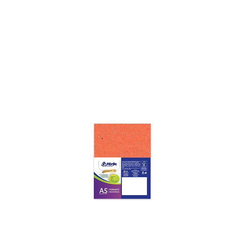 Cartão Color Face - Dupla Face -Laranja - Pacote 10un