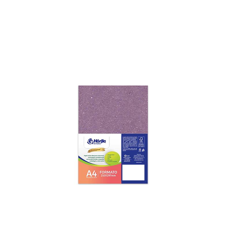 Cartão Color Face - Dupla Face - Lilás - Pacote 10un