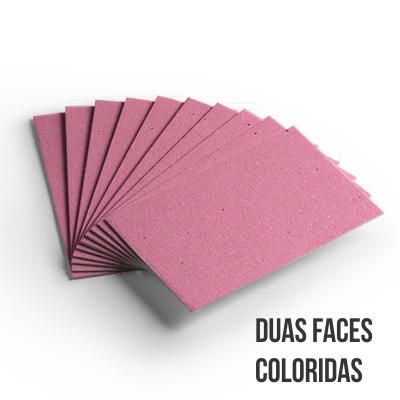 Cartão Color Face -  Dupla Face -Rosa - Pacote 10un