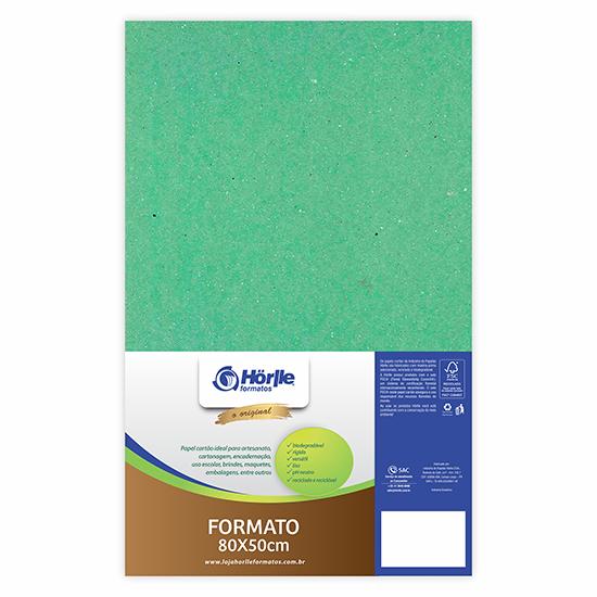 Cartão Color Face - Dupla Face- Verde Claro - Pacote 10un
