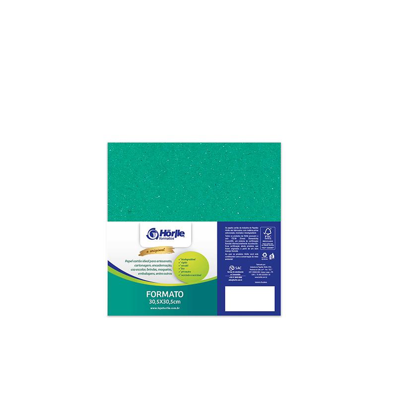 Cartão Color Face -  Dupla Face - Verde - Pacote 10un