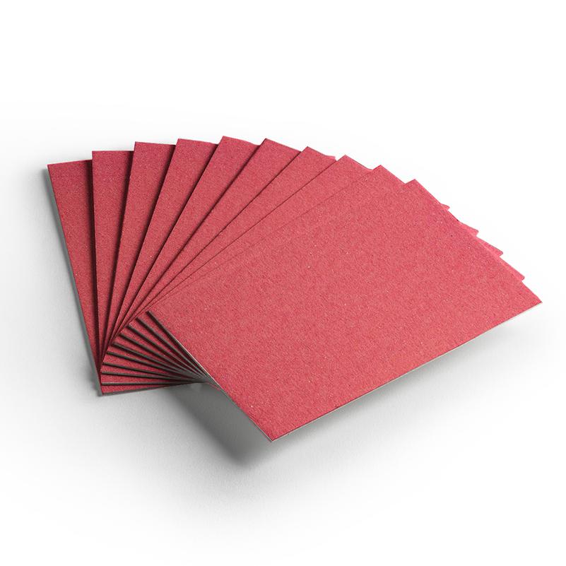 Cartão Color Face -  Dupla Face -Vermelho - Pacote 10un