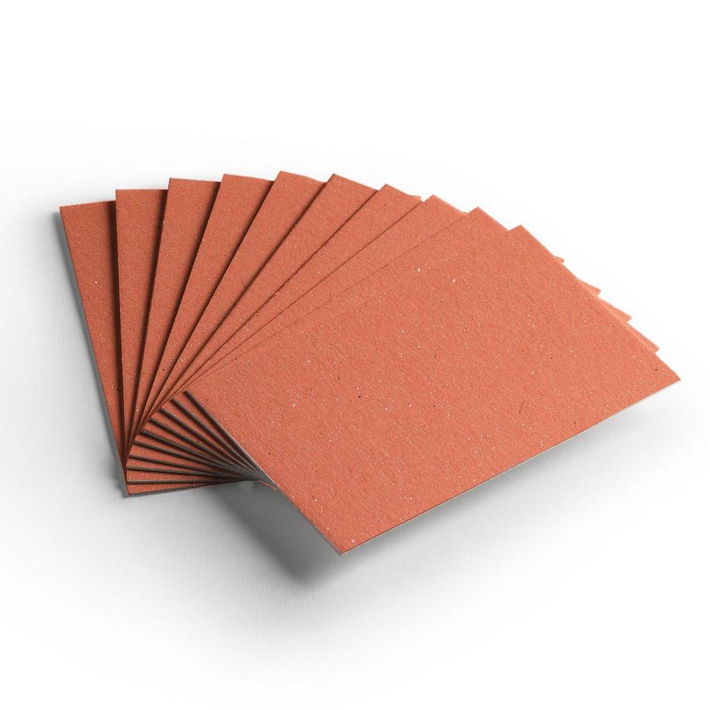 Cartão Color Face - Laranja - Pacote 10un