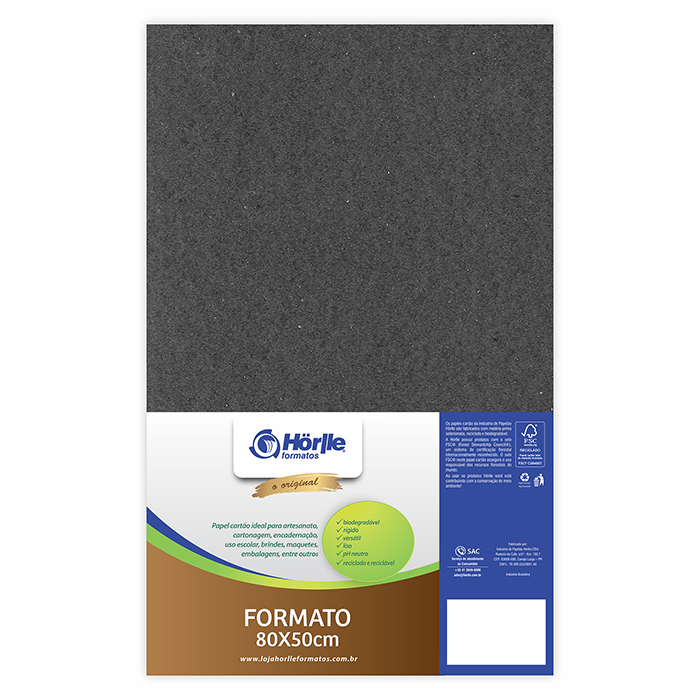 Cartão Color Face - Preto - Pacote 10un