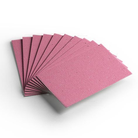 Cartão Color Face - Rosa - Pacote 10un
