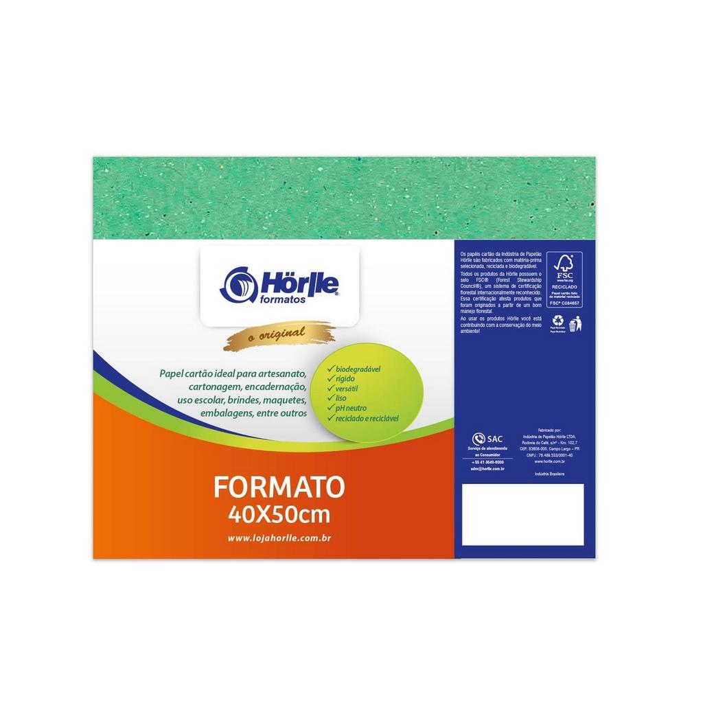 Cartão Color Face - Verde Claro - Pacote 10un