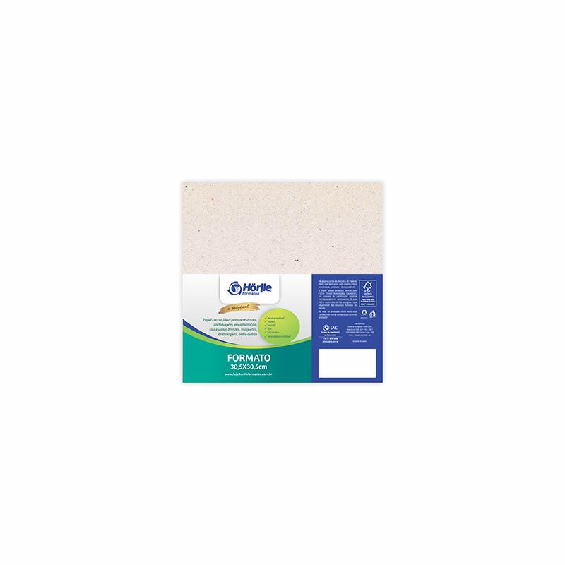 Cartão Natural Premium - Medida 30,5x30,5cm - Pacote 10un