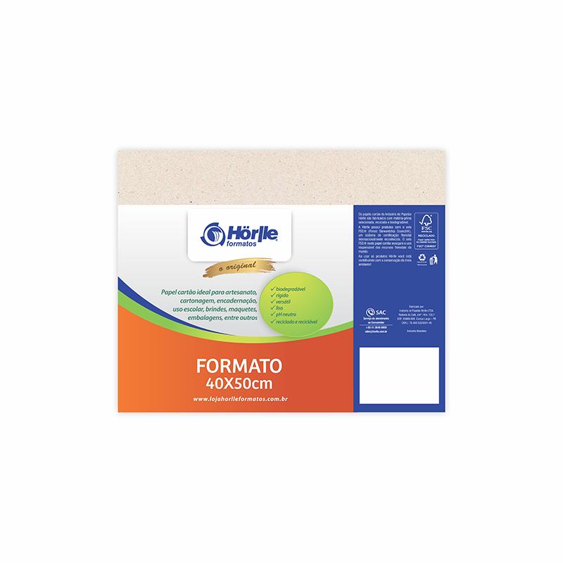 Cartão Natural Premium - Medida 40x50cm - Pacote 10un