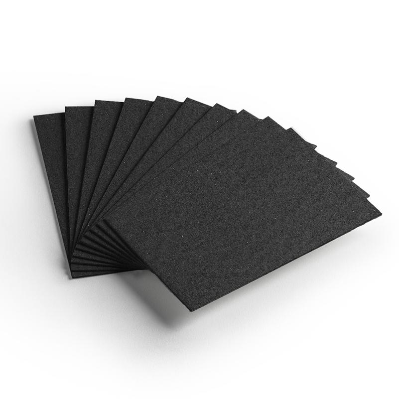 Cartão Preto H - Medida 30,5x30,5cm - Pacote 10un