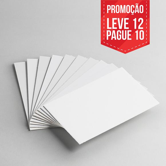 Leve 12 Pague 10 - Cartão Capa Branca - Pacote com 12un
