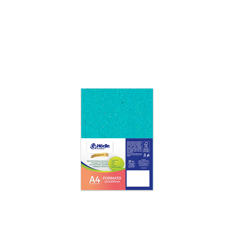 Leve 12 Pague 10 - Cartão Color Face Azul Ciano- Pacote com 12un