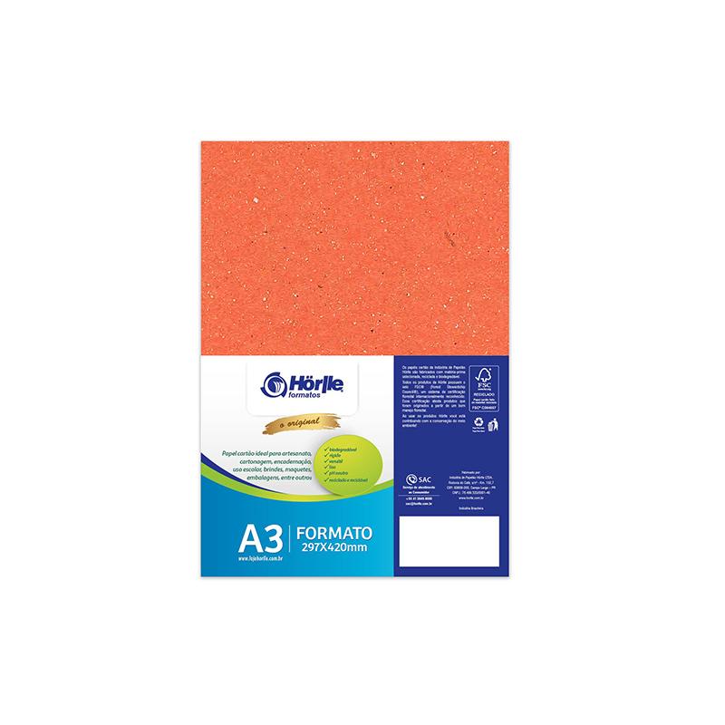 Leve 12 Pague 10 - Cartão Color Face Laranja- Pacote com 12un